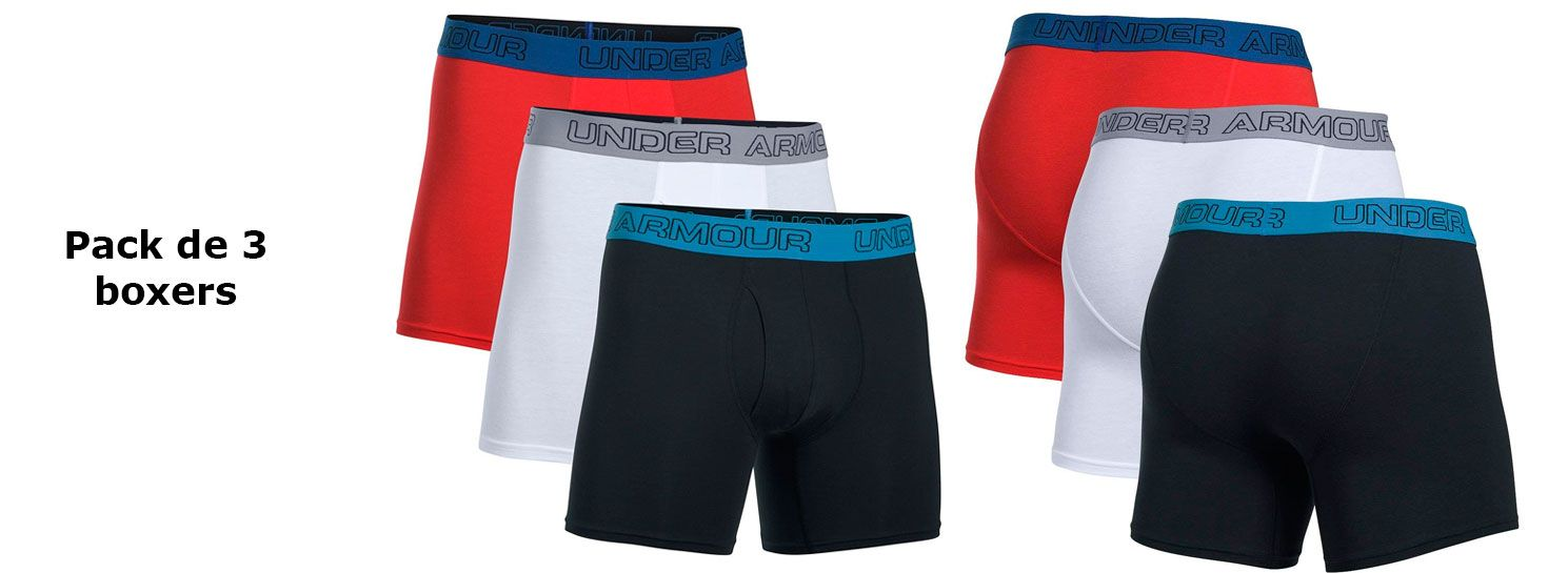 Oferta pack de 3 boxers Under Armour Charged baratos amazon