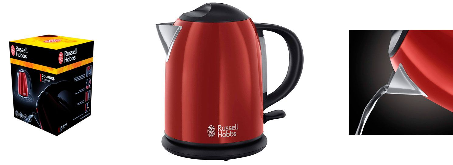 Oferta hervidor Russell Hobbs Colours Red barato